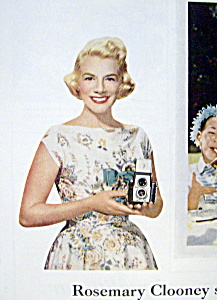 Vintage Ad: 1959 Kodak With Rosemary Clooney