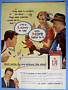 Vintage Ad: 1959 L & M Cigarettes With James Arness