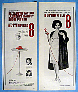 Vintage Ad: 1960 Butterfield 8 With Elizabeth Taylor