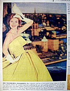 Vintage Ad: 1960 Pond's Cold Cream w/Meg Westergren (Image1)