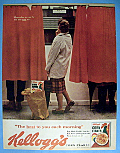 Vintage Ad: 1960 Kellogg's Corn Flakes (Image1)