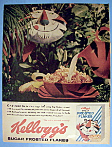 Vintage Ad: 1960 Kellogg's Sugar Frosted Flakes Cereal (Image1)