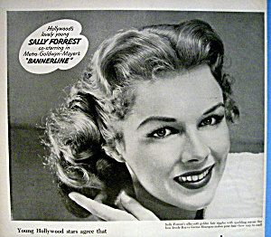Vintage Ad: 1951 Rayve Shampoo With Sally Forrest