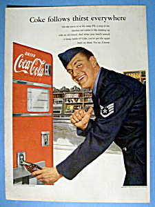 1952 Coca Cola (Coke) With Soldier Opening Bottle