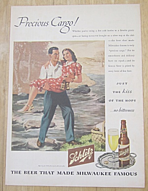 1945 Schlitz Beer with Man Carrying Woman with Bottles (Image1)