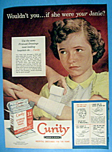 Vintage Ad: 1952 Curity Sterile Lisco Pads (Image1)