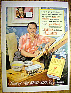 Vintage Ad: 1952 Fatima Cigarettes w Jon Whitcomb (Image1)