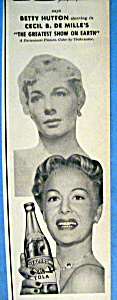 Vintage Ad: 1952 Royal Crown Cola W Betty Hutton