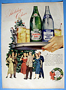 Vintage Ad: 1953 Canada Dry Ginger Ale & Water