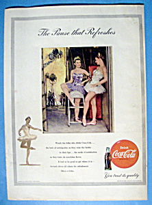 1953 Coca Cola (Coke) with 2 Ballerinas Talking (Image1)