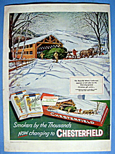 Vintage Ad: 1953 Chesterfield Cigarettes