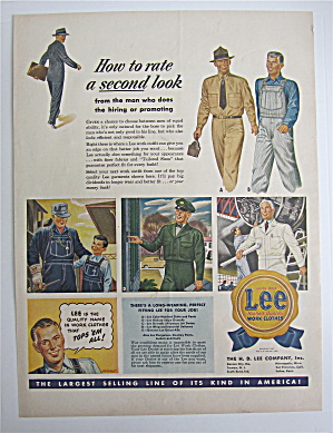 1945 Lee Work Clothes with Different Men Working  (Image1)