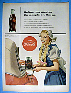 1954 Coca Cola (Coke) with a Woman Serving Bottles (Image1)