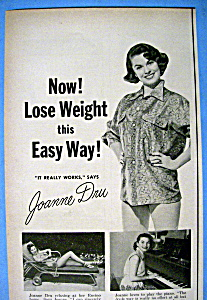 Vintage Ad: 1954 Ayds Reducing Plan W/ Joanne Dru