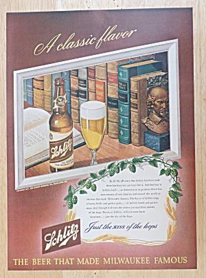 1947 Schlitz Beer with Schmitz Beer with a Book (Image1)