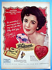 1953 Whitman Sampler Candy with Elizabeth Taylor (Image1)
