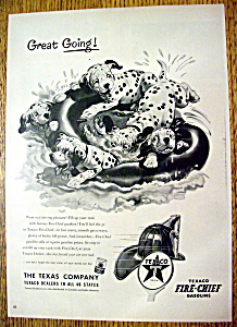 1953 Texaco Fire Chief Gasoline w Dalmatians Floating (Image1)