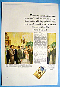1926 Camel Cigarettes With A Scene Of People Smoking