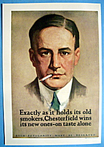 Vintage Ad: 1926 Chesterfield Cigarettes