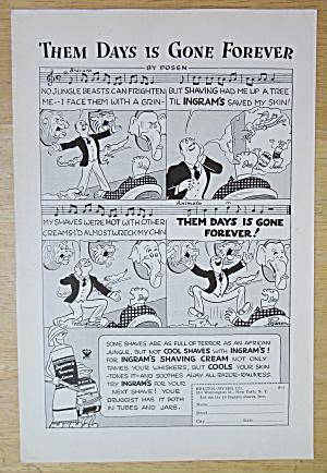 1934 Ingram's Shaving Cream w/Them Days Is Gone Forever (Image1)