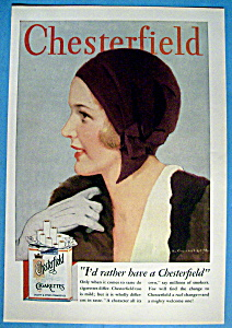 Vintage Ad: 1931 Chestefield Cigarettes