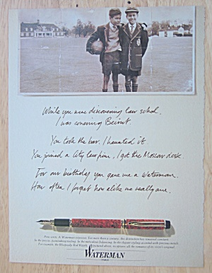 1992 Waterman's Fountain Pen with Two Boys in Picture  (Image1)
