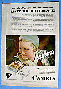 1931 Camel Cigarettes with a Woman Smoking A Cigarette (Image1)