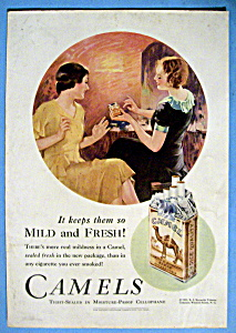 1931 Camel Cigarettes W/ Women Talking About Cigarettes