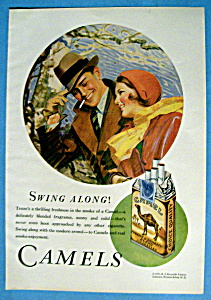 1931 Camel Cigarettes With A Man & Woman Walking