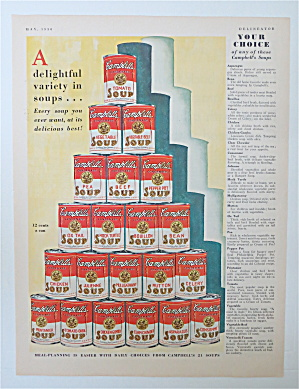 1930 Campbell's Soup With Variety Of Campbell's Soups