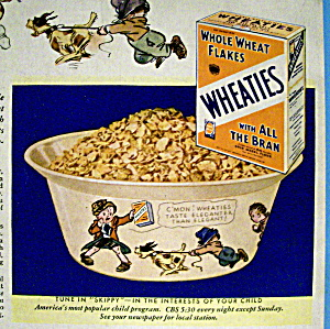 Vintage Ad: 1933 Wheaties Cereal