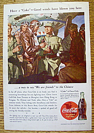 1943 Coca Cola (Coke) with Soldiers Talking To Chinese (Image1)