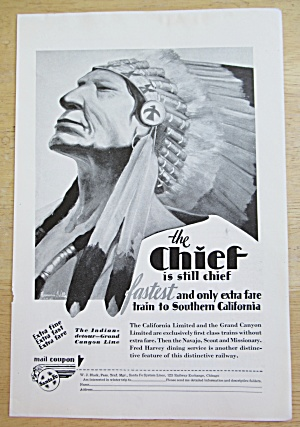 1929 Santa Fe With The Chief