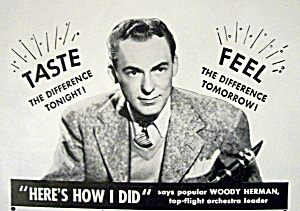 Vintage Ad: 1943 White Rock Water With Woody Herman