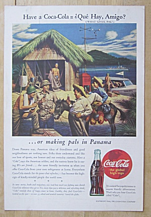1944 Coca Cola (Coke) with Soldiers in Panama (Image1)