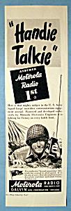 Vintage Ad: 1944 Motorola Handie Talkie (Image1)