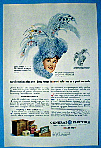 Vintage Ad: 1945 General Electric Radio W/ Betty Hutton
