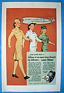 1945 General Tires with Three Women Soldiers (Image1)