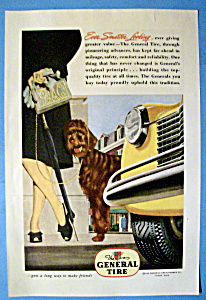 1945 General Tires with Woman Walking Her Dog (Image1)