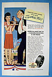 1945 General Tires with Man Giving Woman a Ribbon (Image1)