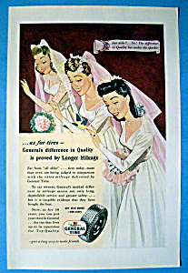 1945 General Tires With Three Brides