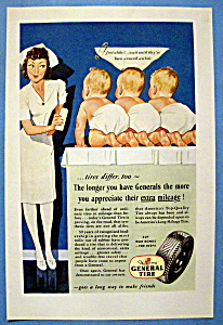 1945 General Tires with a Nurse & Three Babies (Image1)