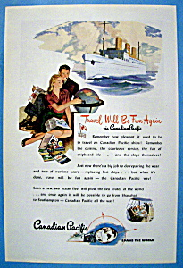 1946 Canadian Pacific With A Ship