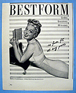 Vintage Ad: 1946 Bestform Girdles & Bras (Image1)