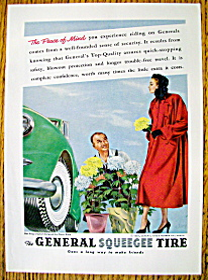 Vintage Ad: 1948 General Squeegee Tire (Image1)