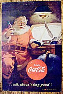 Vintage Ad: 1951 Coca Cola (Coke) with Santa Claus (Image1)