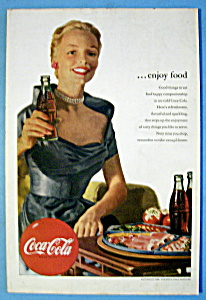 1952 Coca Cola (Coke) w/Woman Holding A Bottle of Soda (Image1)