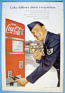 1952 Coca Cola (Coke) with Soldier & Soda Machine (Image1)