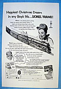 Vintage Ad: 1952 Lionel Trains (Image1)