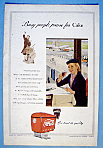 1953 Coca Cola (Coke) with Woman Holding a Glass (Image1)